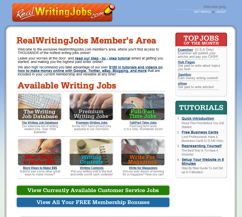 Review writing jobs